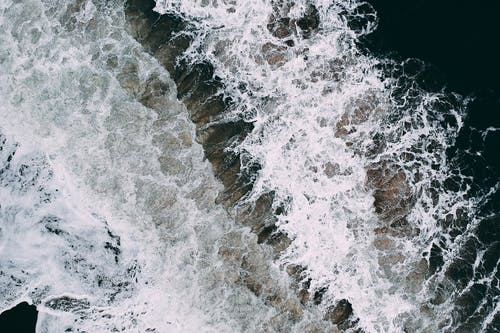 Aerial Photography of Ocean Splash