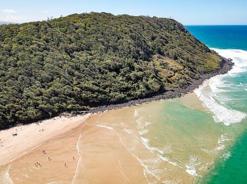 Free stock photo of beach, beach waves, blue, drone