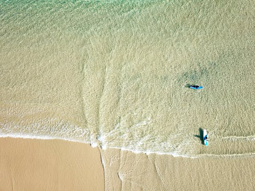 Aerial Shot Of Beach