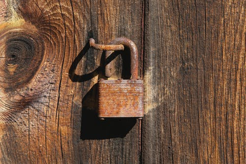 Free stock photo of lock, locked, open lock, rust