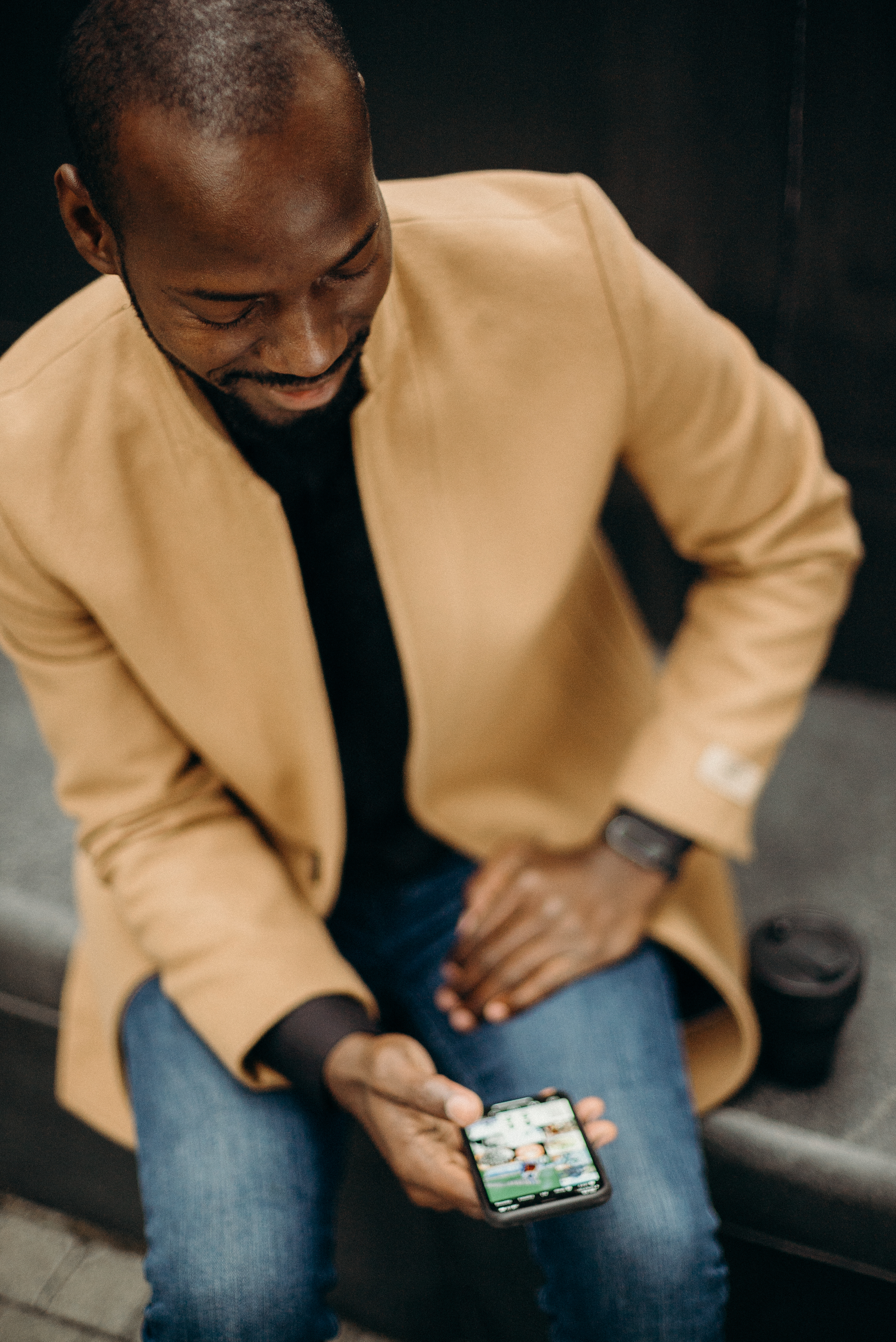 Man Using Android Smartphone