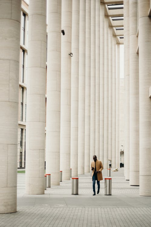 White Concrete Pillars
