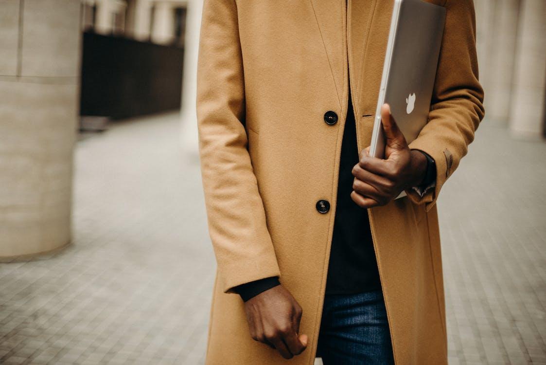macbook, выборочный фокус, коричневый