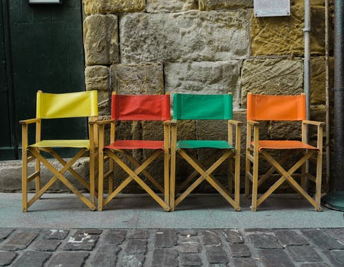 Free stock photo of chairs, color, colour