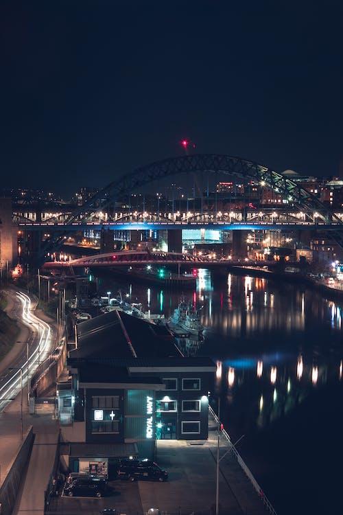 Ảnh lưu trữ miễn phí về cầu, chụp ảnh đêm, con sông, cuộc sống ban đêm
