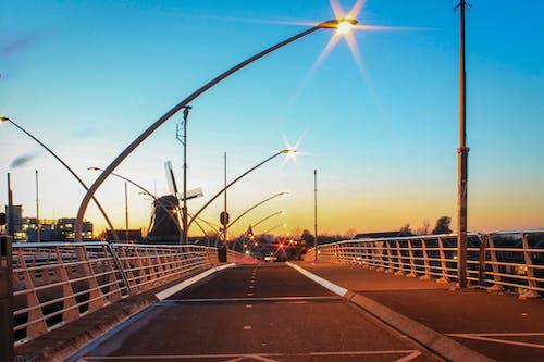 Free stock photo of bike lane, bridge, city, city lights
