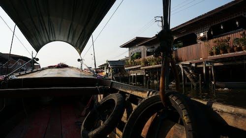 Kostenloses Stock Foto zu boot, himmel, kontrast, thailand
