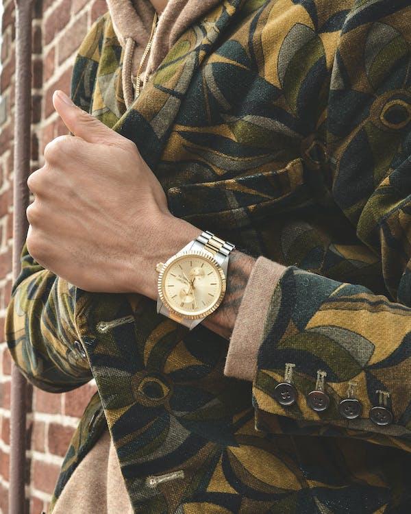 armbandsur, hand, klocka
