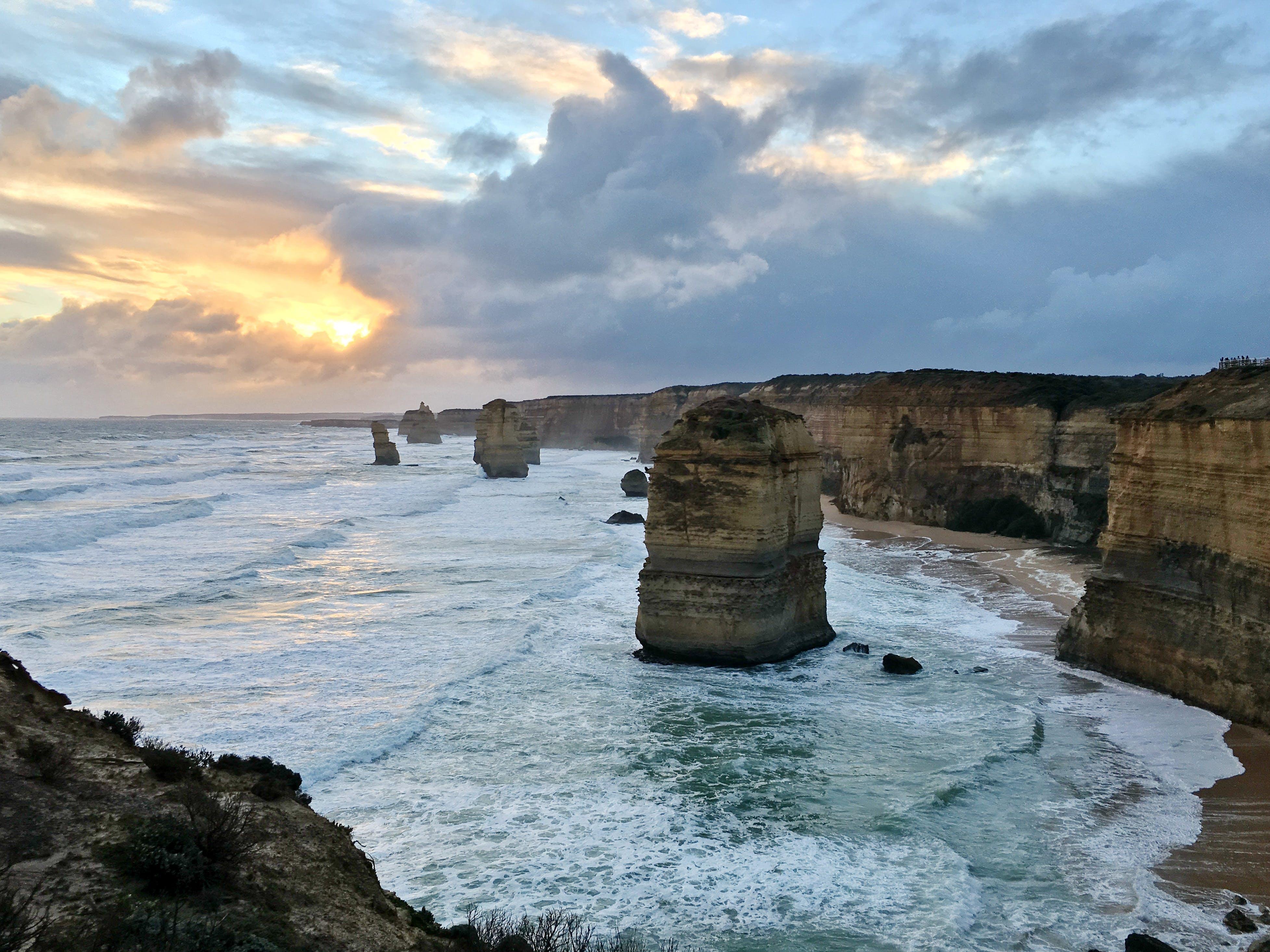 Free stock photo of 12 Apostles, australia, great ocean road, limestone
