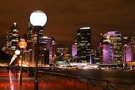 light, city, sunset