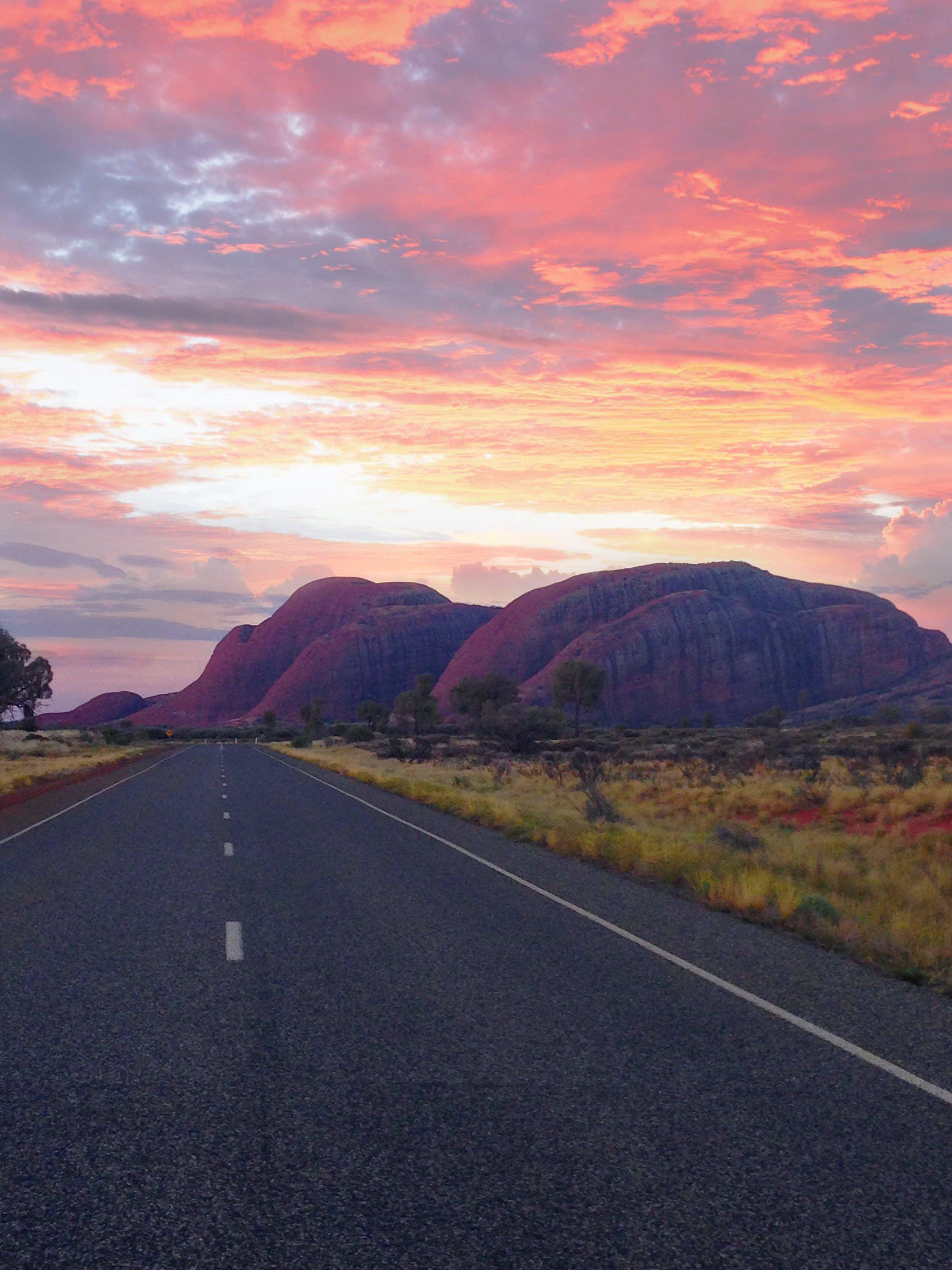 Free stock photo of Kata Tjuta, northern territory, road, sunset