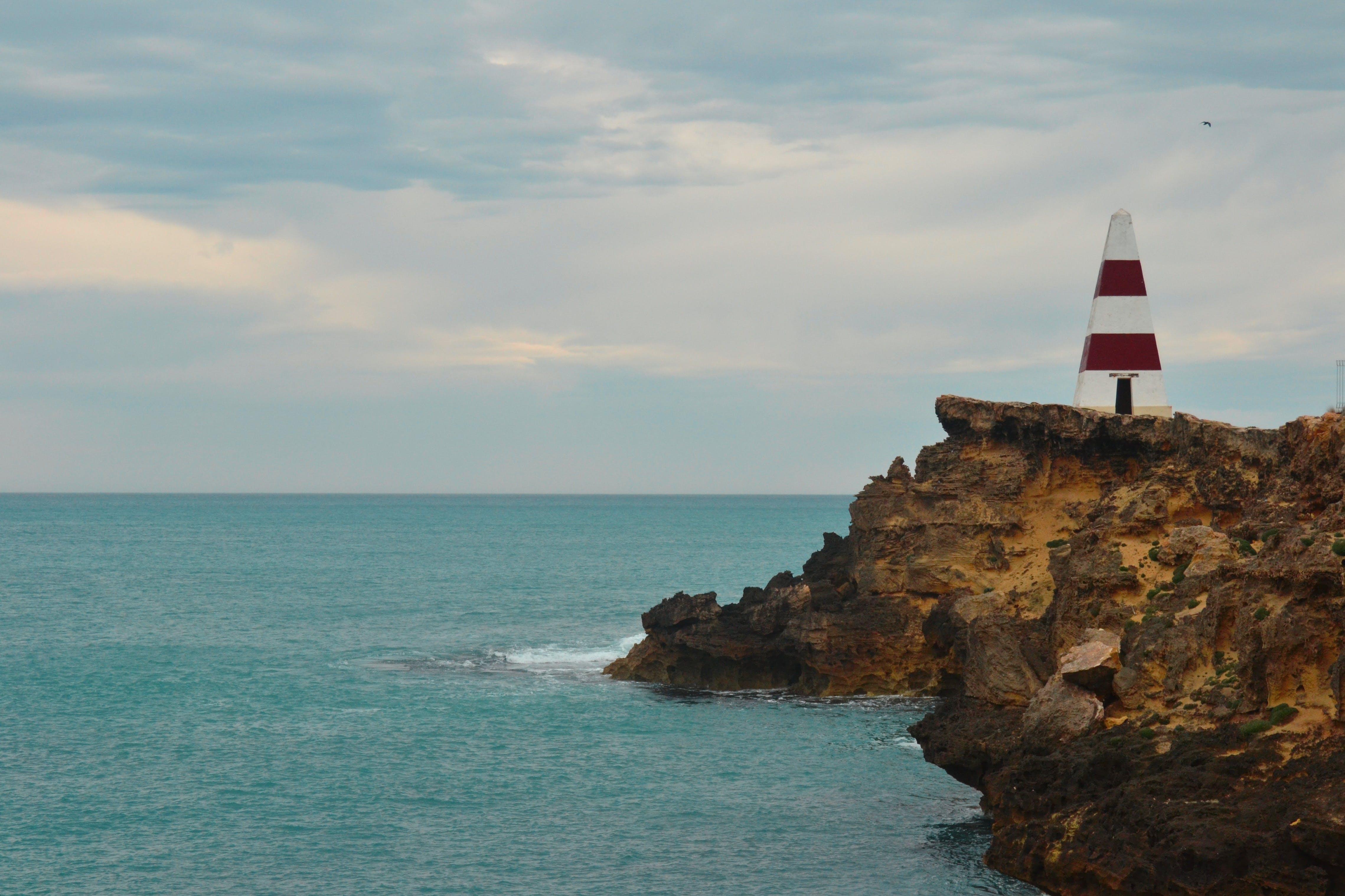 Free stock photo of cliff, lighthouse, Limestone Coast, ocean
