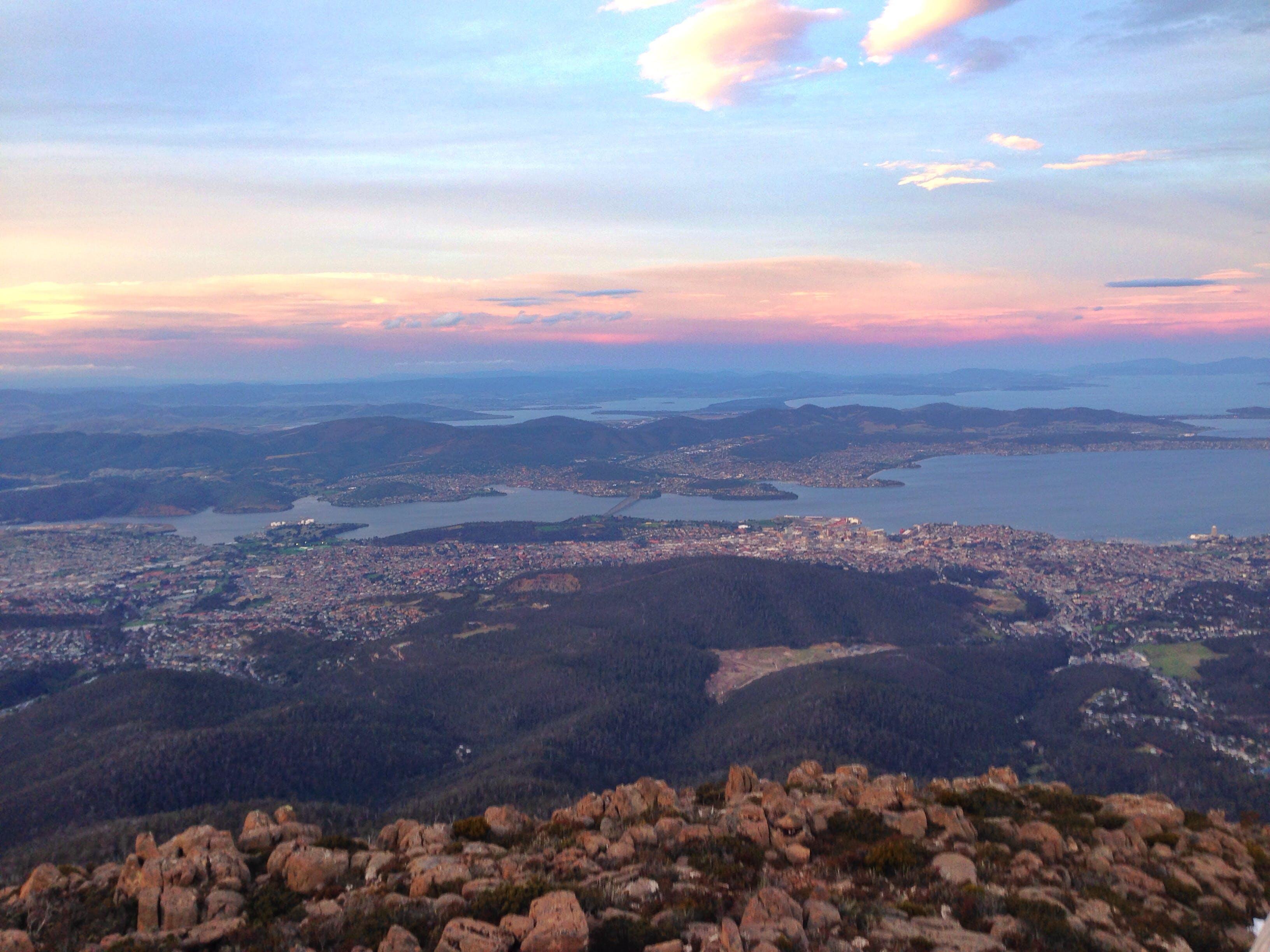 Free stock photo of sunset, tasmania, Mt Wellington