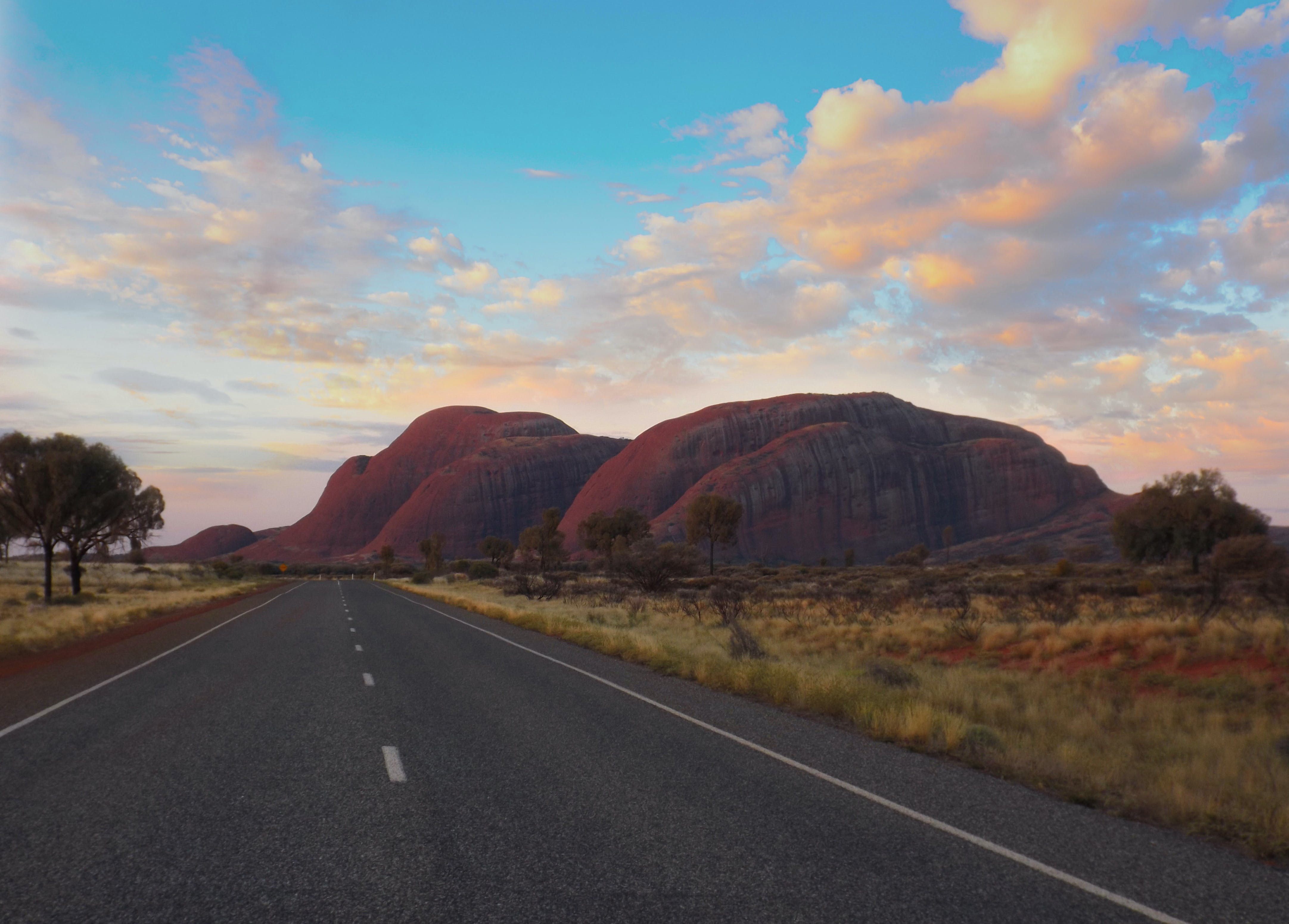 Free stock photo of road, sunset, northern territory, The Olgas