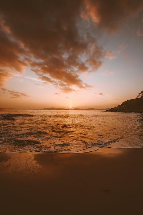 água, alvorecer, amanhecer