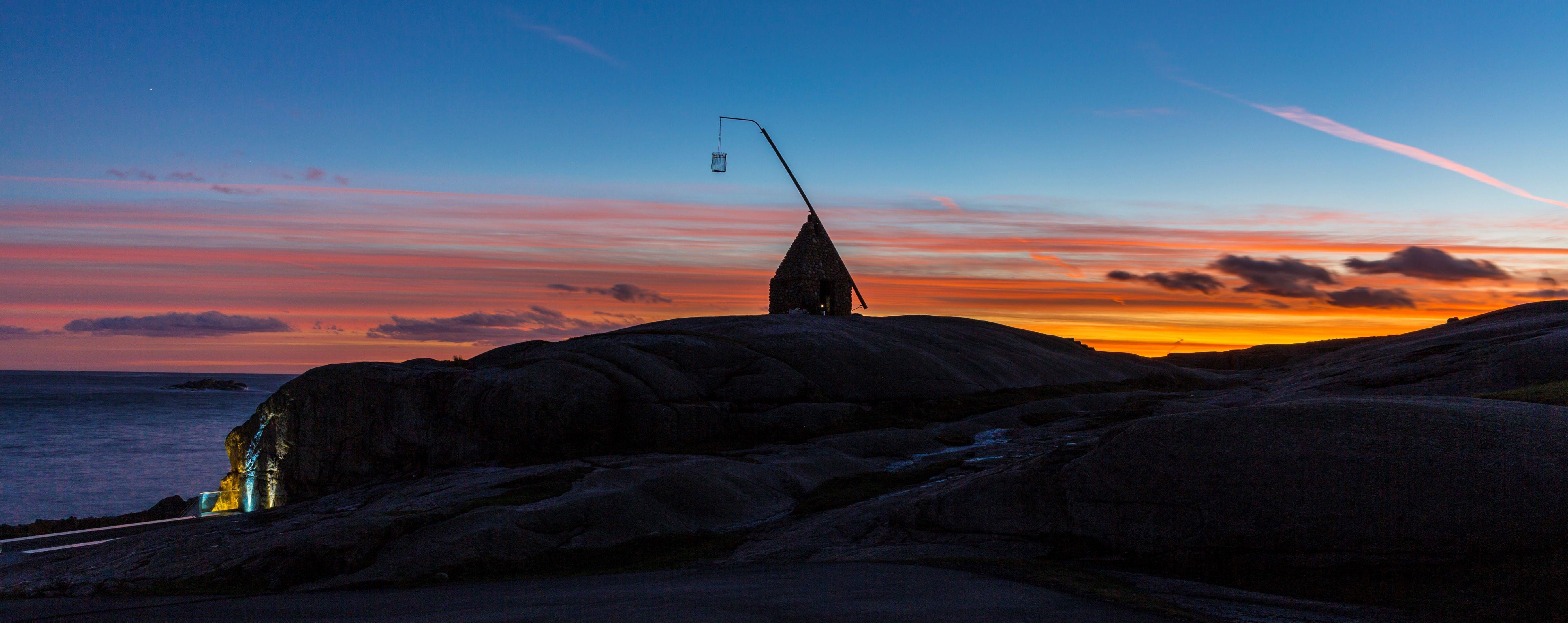 Gratis lagerfoto af farver, fyrtårn, orange himmel, solnedgang