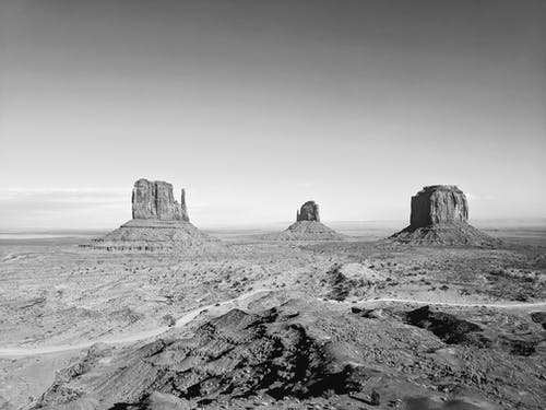 Grayscale Photography of Landscape