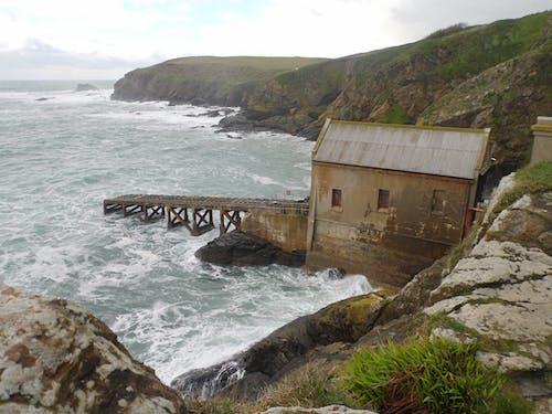 Free stock photo of cliff coast, coastal land, lifeboat station