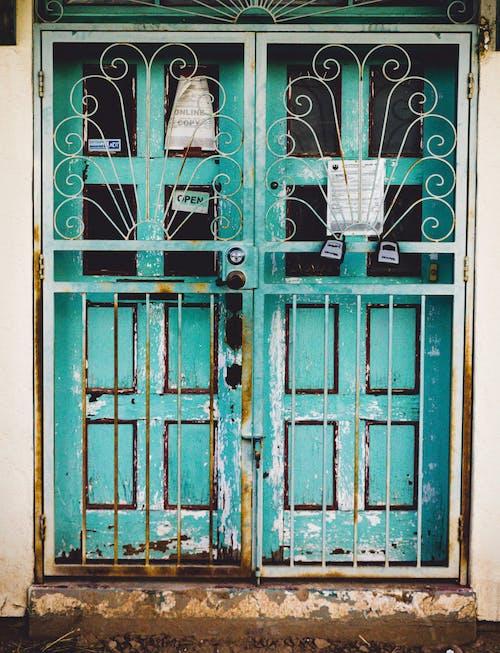 Imagine de stoc gratuită din abandonat, albastru, bătrân, clădire abandonată