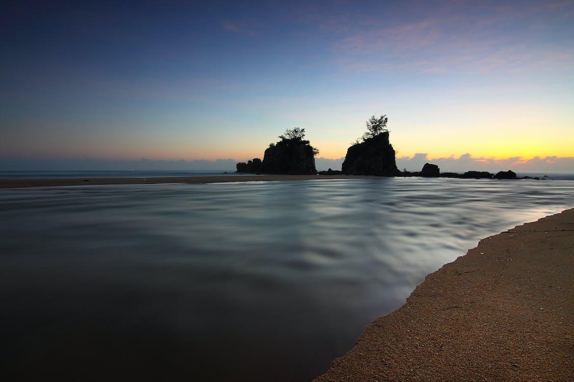 ακτή, άμμος, αντανάκλαση