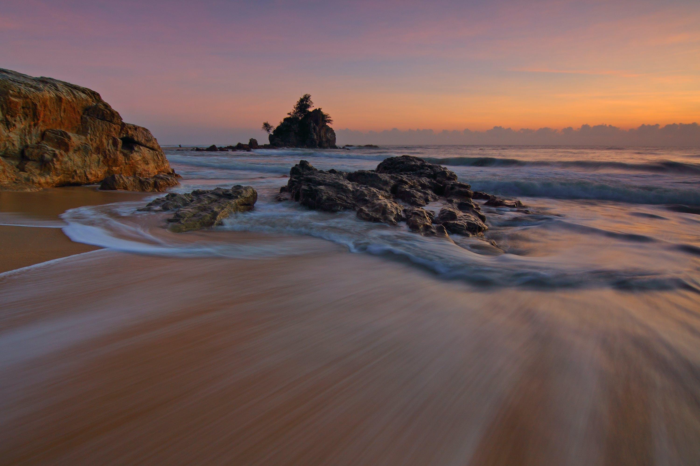 Stone Formation Near Ocean