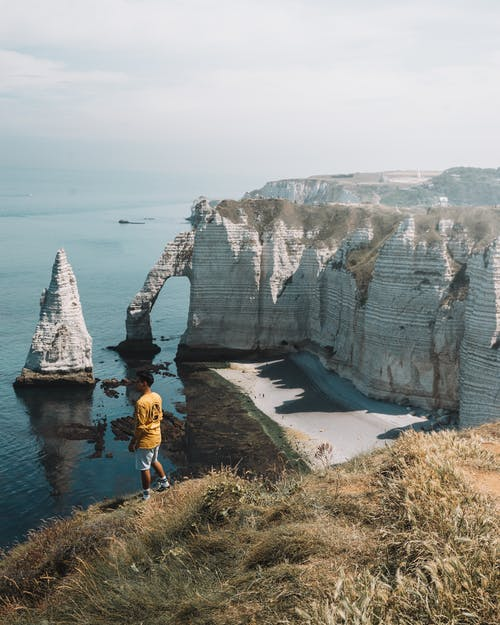 Ingyenes stockfotó geológia, mészkő, óceán, rock témában