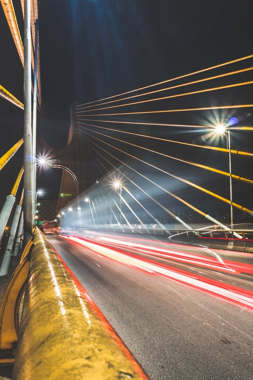 Time-lapse Photography of Cars Travel in Bridge