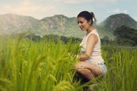 landscape, nature, person
