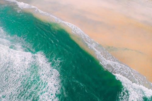 คลังภาพถ่ายฟรี ของ คลื่น, จากข้างบน, ชายทะเล, ชายหาด