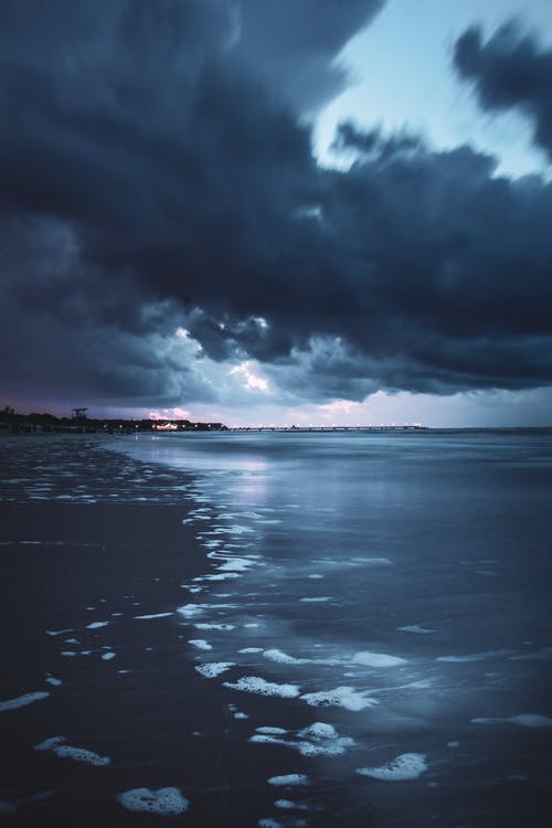 Free stock photo of afterglow, Baltic Sea, beach, blue