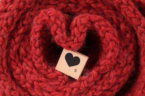 Free stock photo of heart, knitwear, read, scrabble