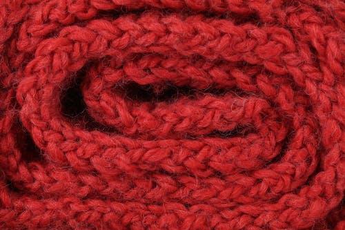 Free stock photo of knitwear, red, yarn