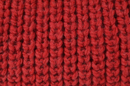 Free stock photo of detail, knitwear, red