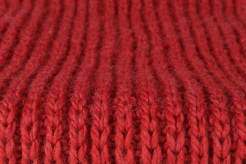 Free stock photo of knitwear, red, ribbed scarf