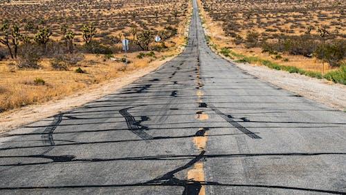 廢棄的, 沙漠公路, 瀝青, 路 的 免费素材照片