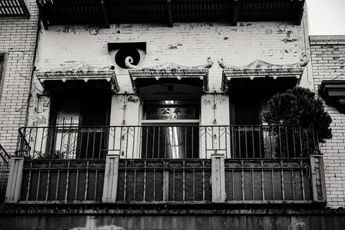 Grayscale Photography of Balconies