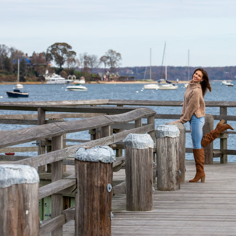 #water #smile #dock #boat #boots #blue