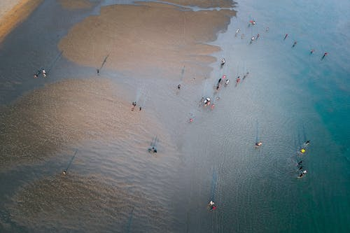 Foto profissional grátis de areia, beira-mar, cor, corpo d'água