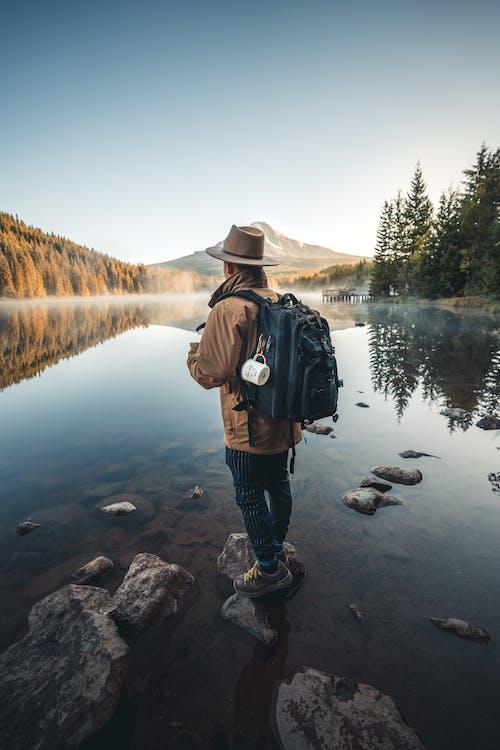 äventyr, backpacker, berg