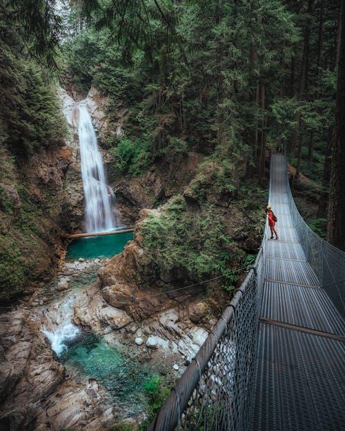 Ilmainen kuvapankkikuva tunnisteilla henkilö, joki, kallio, maisema