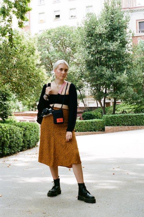 Photo Of Woman Wearing Brown Skirt
