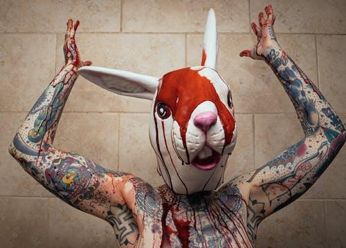 Free stock photo of blood, rabbit, spooky, tattoos