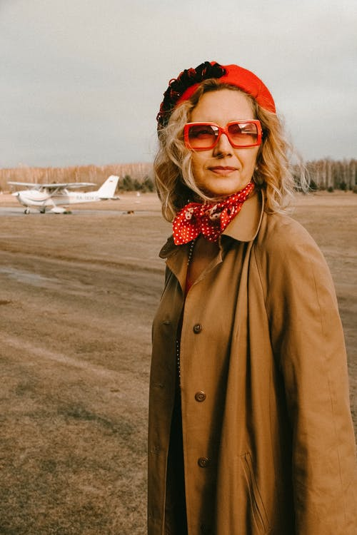 Photo Of Woman Wearing Red Sunglasses