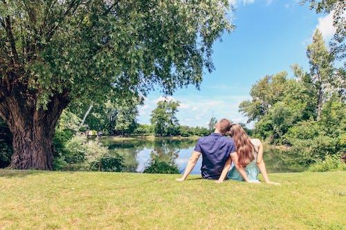 Foto profissional grátis de ao ar livre, árvores, casal, céu