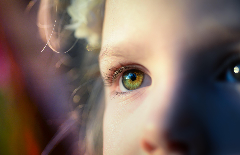 dítě, dívání, focení