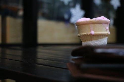 Free stock photo of cold, cone, drip, ice cream