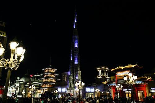 Základová fotografie zdarma na téma budovy, Burdž Chalífa, Dubaj, mrakodrap