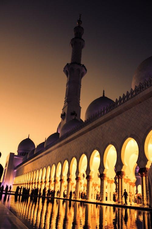Základová fotografie zdarma na téma abu dhabi, chrám, Dubaj, jasné barvy