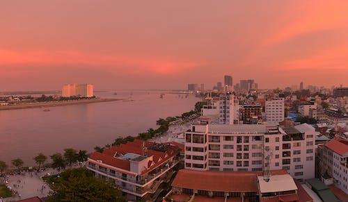 アジア, オレンジ, カンボジア, シティの無料の写真素材