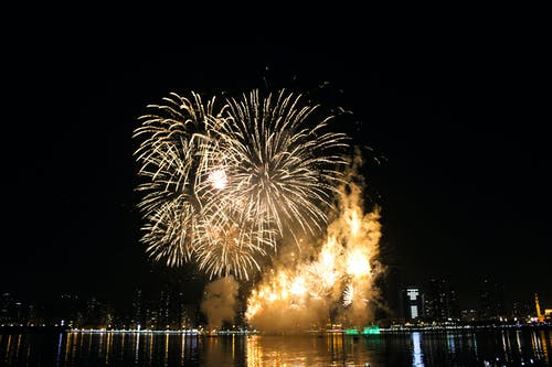 Free stock photo of dubai, firework, fireworks, new year
